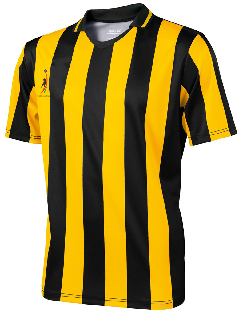 Fusion yellowblack stripe jersey