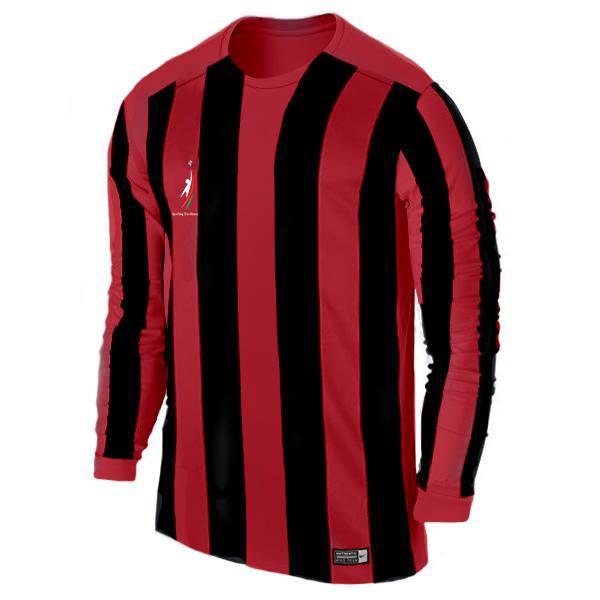 Long sleeved striped soccer jersey